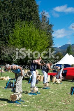 Traditional Country Fair Woodchopping Event Royalty Free Stock Photo