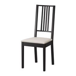 BÖRJE Chair - IKEA, brown-black, sand cushion