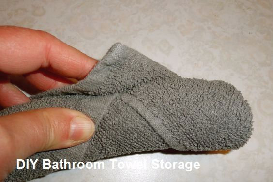 Diy Bathroom Towel Storage Ideas Bathroomdiy How To Roll Towels