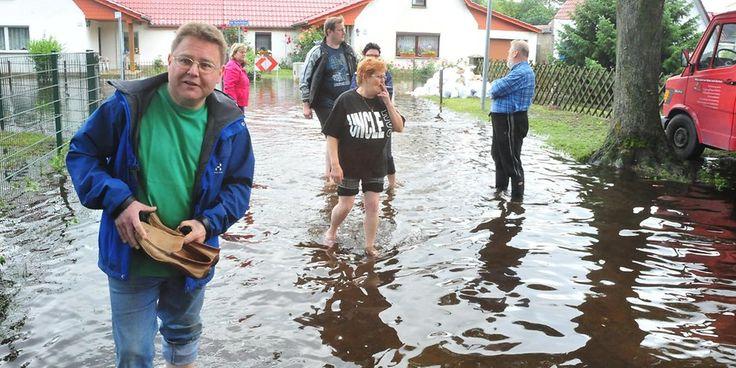 Hochwasser in Leegebruch