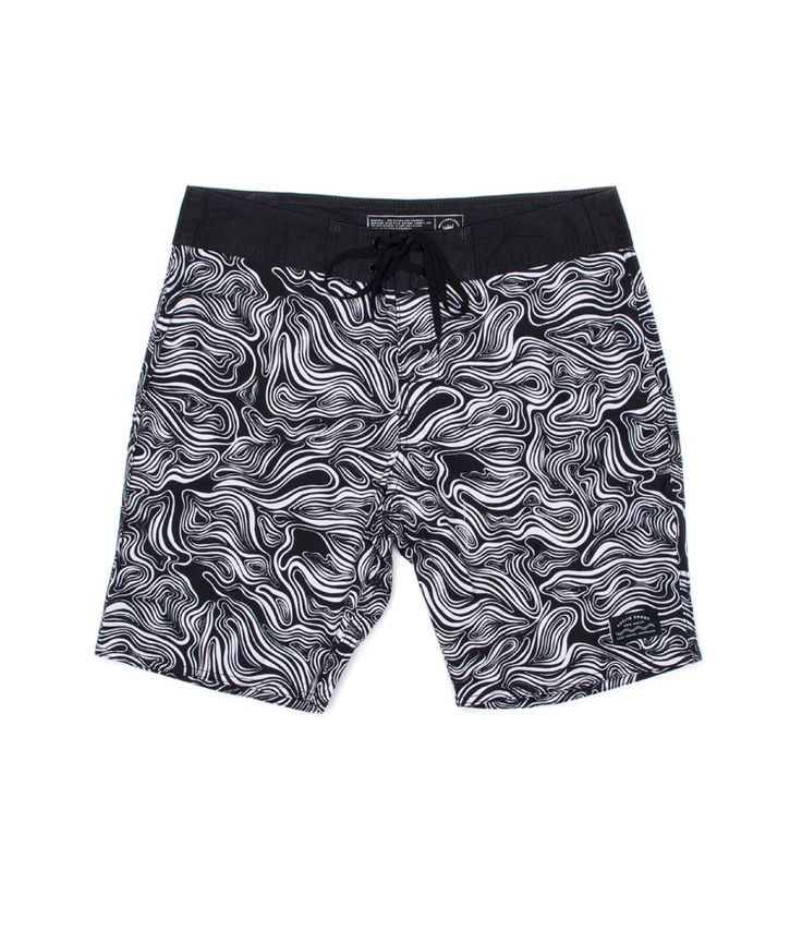 Undertow Black/White Boardshort