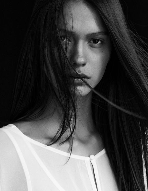 Black and White Photography Woman Portrait by Attilio D'Agostino