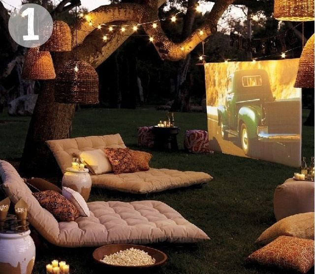movie night back yard
