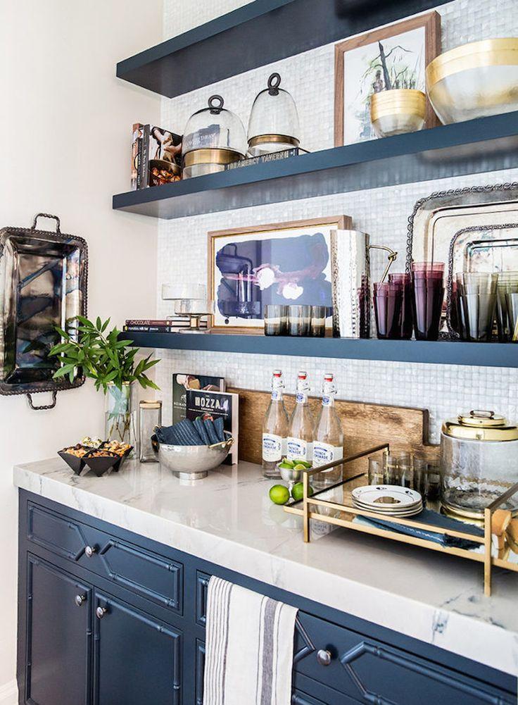 white grey and gold kitchen | ivory lane 9