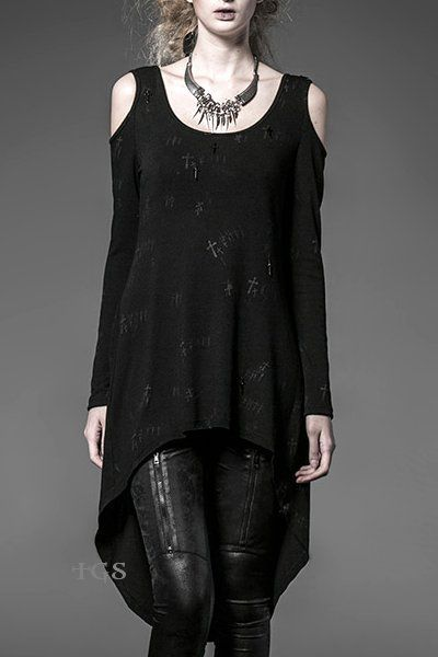 cool Serenity Black Gothic Top by Punk Rave | Ladies Gothic by http://www.polyvorebydana.us/gothic-fashion/serenity-black-gothic-top-by-punk-rave-ladies-gothic/