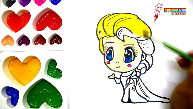 How To Draw Elsa Chibi For Kids-Coloring Book Page 43/Drawing Kidstv