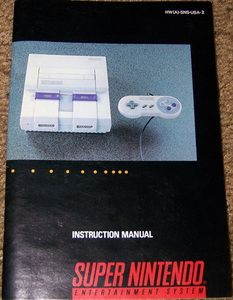 Super Nintendo System - SNES Manual