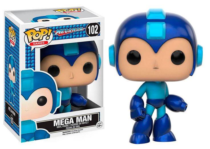 Cabezón Mega Man 9 cm. Línea POP! Games. Funko Estupendo cabezón del personaje del Mega Man del videojuego del mismo nombre, en una figura perfecta como regalo, para coleccionar si eres fan o para disponer de una buena excusa para realizar ese detalle a alguien querido.