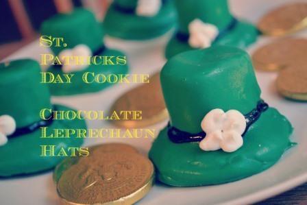 St Patrick's Day Cookie - Chocolate Leprechaun Hats (so cute!)
