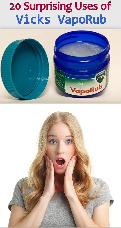 20 Surprising Uses of Vicks VapoRub You didn't Know Yet ! http://www.feminiya.com/20-surprising-uses-of-vicks-vaporub-you-didnt-know-yet/ #vicksvaporub #usesvicks