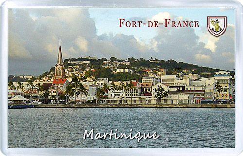 $3.29 - Acrylic Fridge Magnet: Martinique. Fort-de-France