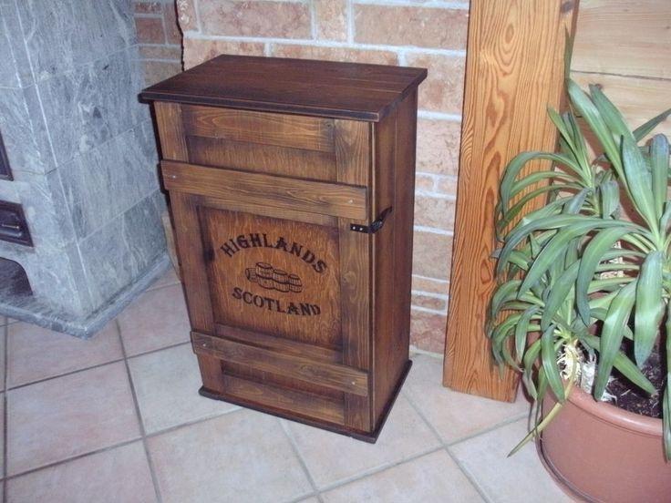 Epic Bar Whiskey Frachtkiste Single Malt shabby vintage Schrank Whisky Landhaus Truhe