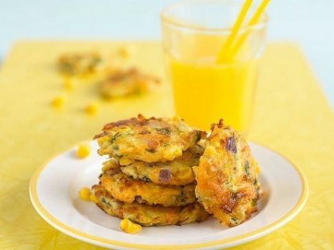 Carrot, Courgette And Sweetcorn Fritters
