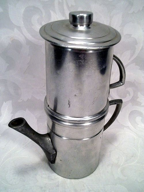 USD 19.99 ALUMINUM 2 CUP STOVE-TOP FLIP NEAPOLITAN DRIP STYLE COFFEE MAKER MADE IN ITALY Coffee ...