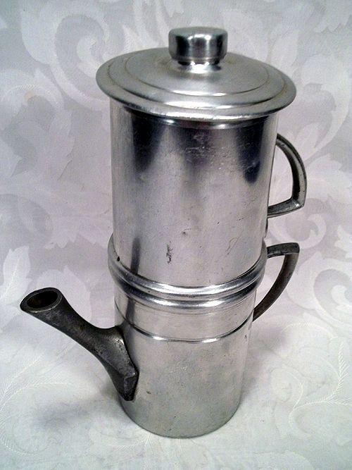 Italian Coffee Maker Aluminum : USD 19.99 ALUMINUM 2 CUP STOVE-TOP FLIP NEAPOLITAN DRIP STYLE COFFEE MAKER MADE IN ITALY Coffee ...
