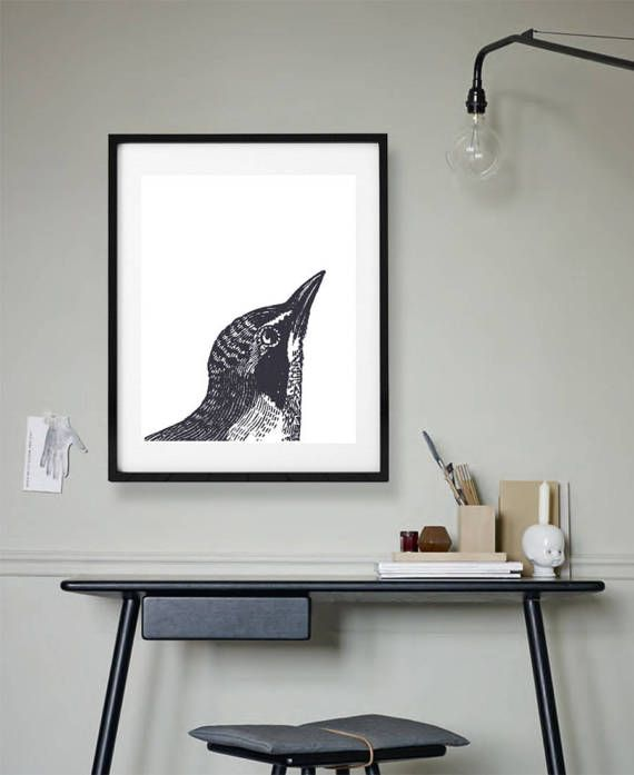 Hummingbird Print, Printable Art, Contemporary Wall Decor, Creative Rustic Print, Instant Download, Black and White,  Kids Nursery Room