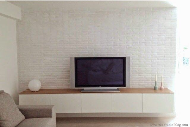 LOW COST IKEA CUSTOM FURNITURE TV reforma-tres-studio-antes-despues-sotano-chalet-estilo-nordico-valencia-mini-piso