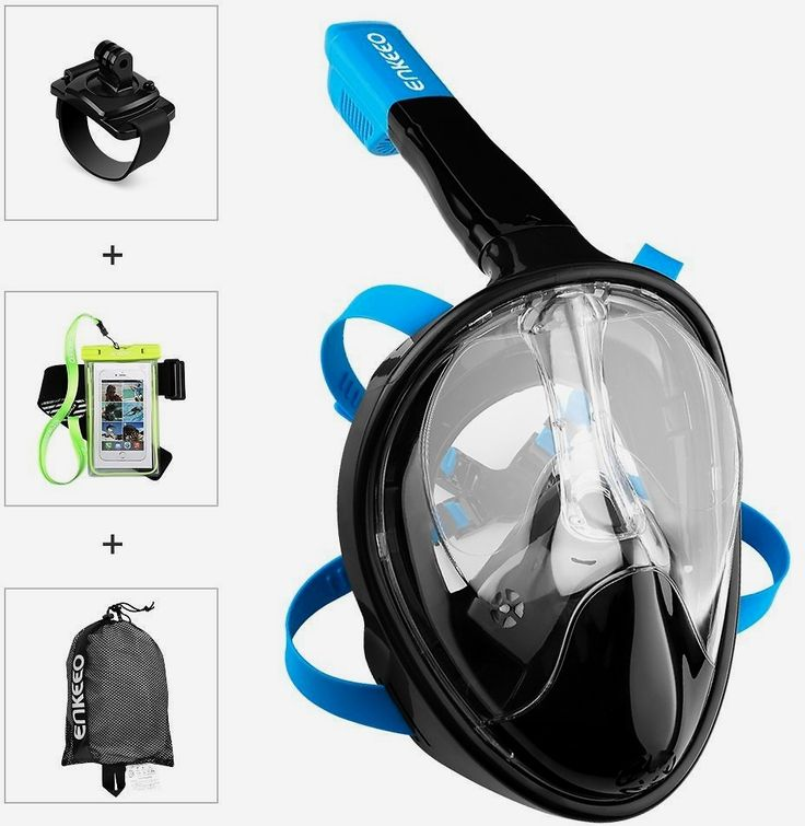 #Enkeeo Full Face Snorkel Mask with 180° Panoramic View, Watertight and Anti-Fog (#Including Waterproof #Phone Case and GoPro Compatible Band)  https://couponash.com/deal/enkeeo-full-face-snorkel-mask-with-180-panoramic-view-watertight-and-anti-fog-including-waterproof-phone-case-and-gopro-compatible-band/165735