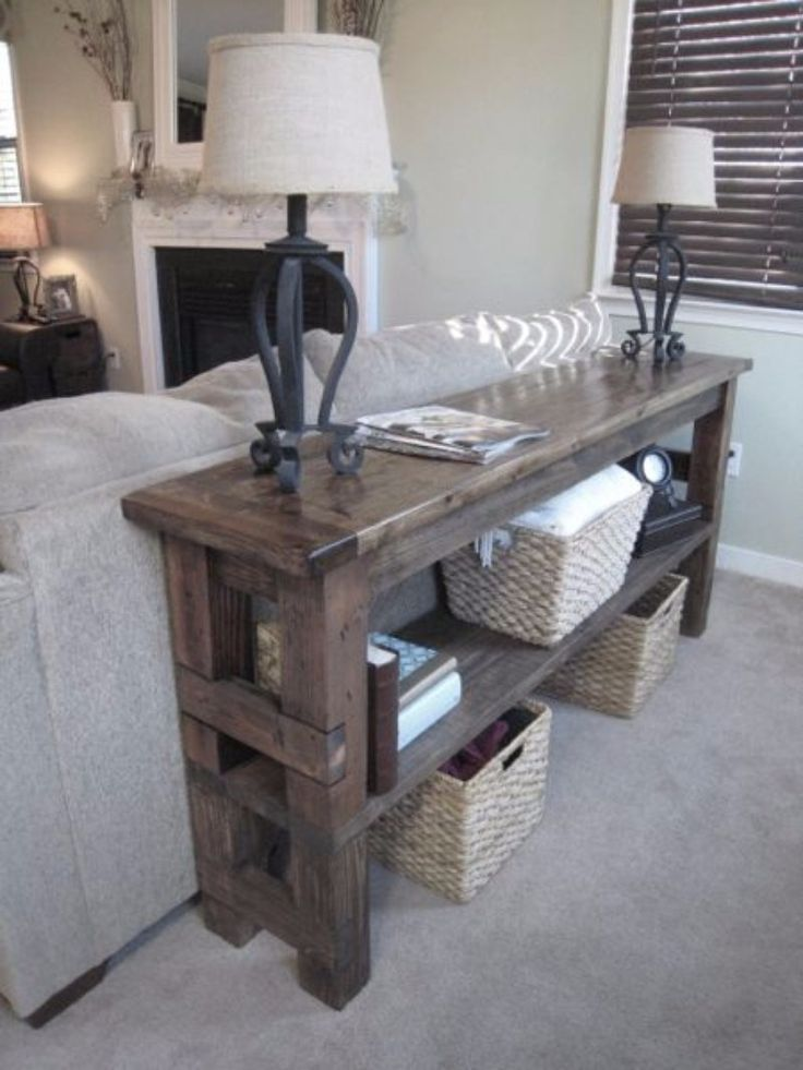 Best 25 Table Behind Couch Ideas On Pinterest