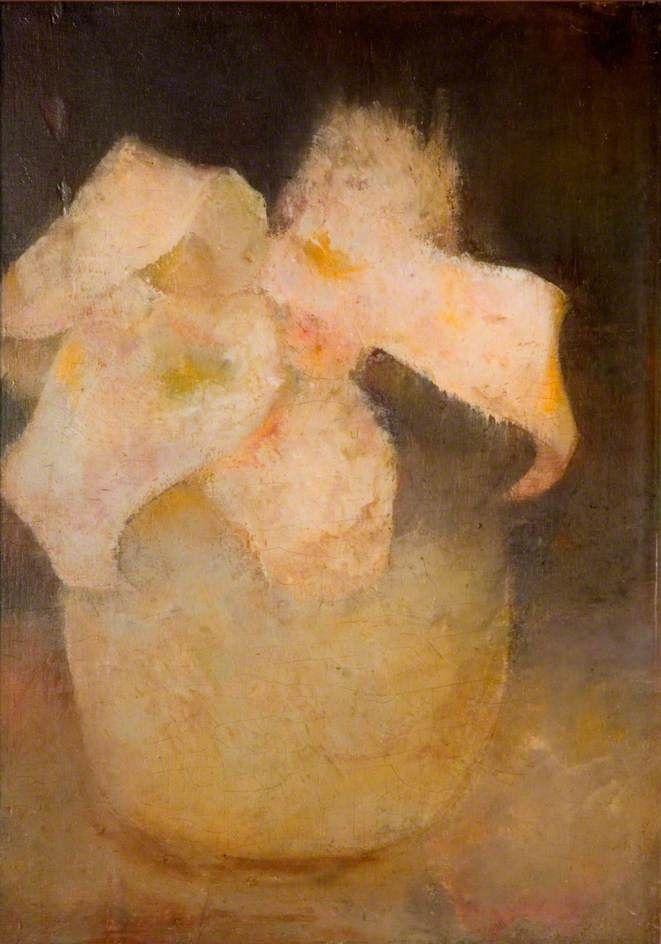Witte orchidee, Jan Mankes