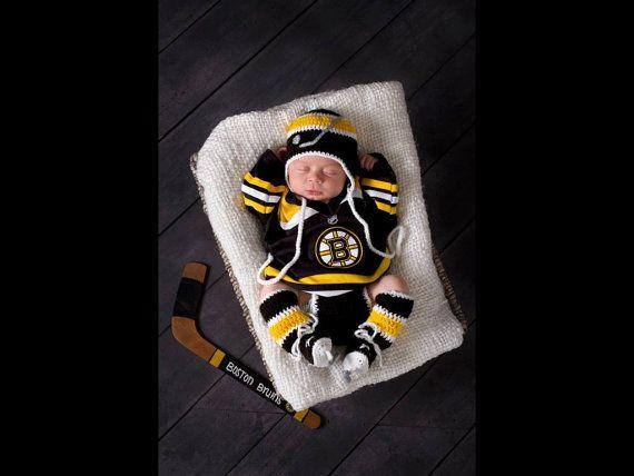 Need this in Caps!  BABY HOCKEY BOYS Crocheted Hockey Helmet Hat Diaper by Grandmabilt