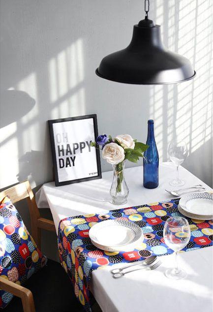 [바보사랑] 느낌있는 테이블셋팅 /테이블러너/테이블셋팅/홈스타일링/인테리어/주방/Table Runner/Table setting/Table decorations/Home Styling/Interior/Kitchen