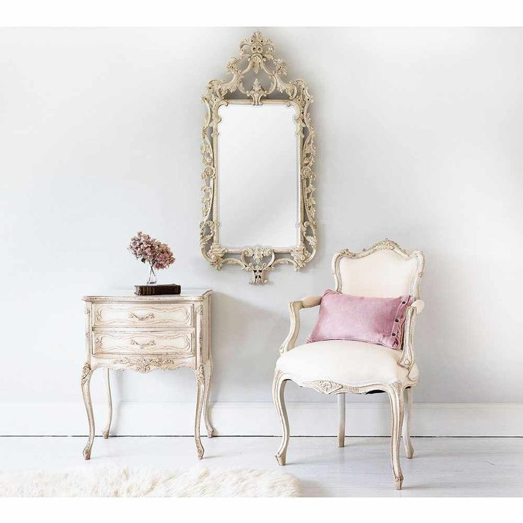 Delphine Distressed Shabby Chic Mirror