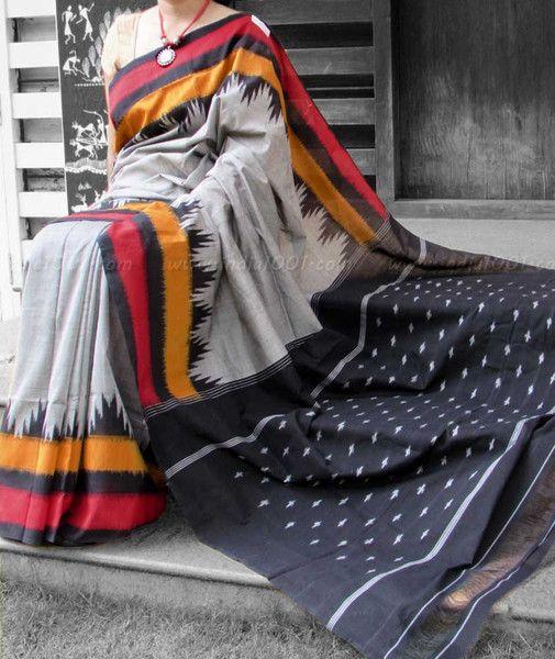 Designer Woven Ikkat Saree