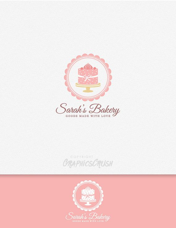 Bakery Logo Pastry Cake Cupcake OOAK Logo by GraphicsCrush on Etsy