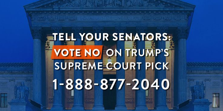 The Republicans on the Senate Judiciary Committee voted today to confirm Trump's Supreme Court pick despite his extreme record and evasive performance at his recent hearing. The full Senate will vote on whether to put Judge Neil Gorsuch on the closely divided Supreme Court this Thursday. It's up to your senators to protect the decisive ninth seat.