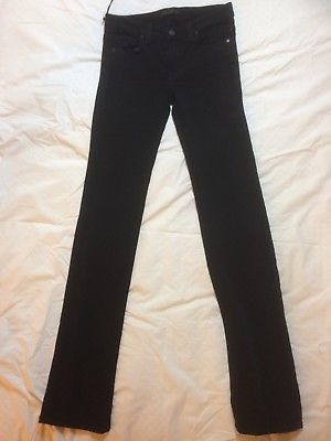Genetic Denim Liam Straight Lure Black Soft Stretch Jeans Size 27