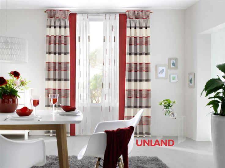 unland mixed red fensterideen gardinen und sonnenschutz curtains contract fabrics pleated. Black Bedroom Furniture Sets. Home Design Ideas