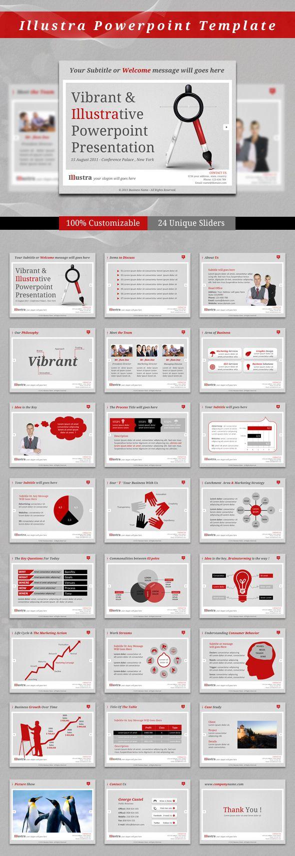 Illustra Powerpoint Template by kh2838.deviantart.com on @deviantART