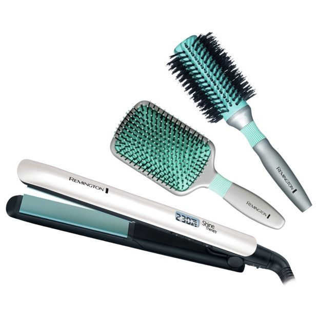 Buy Remington S8500GPB Shine Therapy Hair Straightener Gift Pack at Argos.co.uk - Your Online Shop for Hair straighteners, Hair care, Health and beauty.