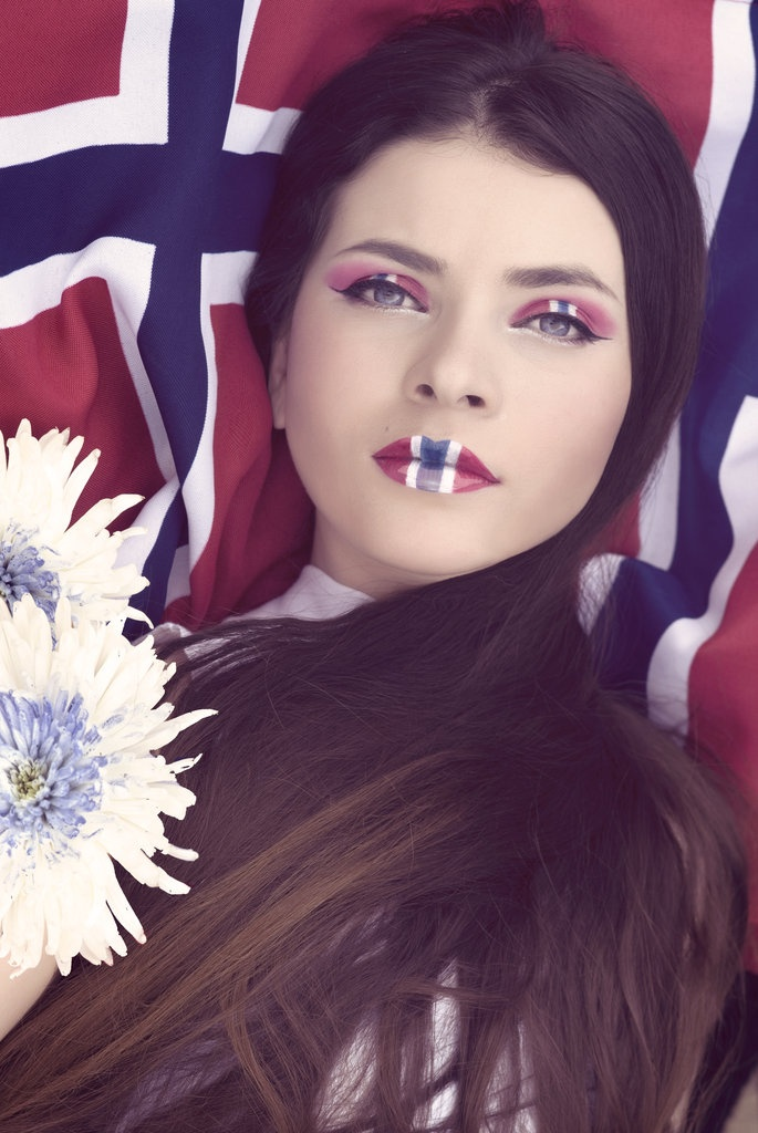 Happy Constitution Day, Norway!!     (Photo & makeup: Sølvi Strifeldt, Model: Aida Shirazei)