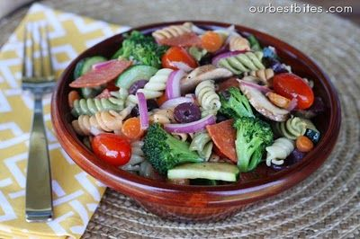 Classic Pasta Salad - comes with a Homemade Italian Dressing Recipe