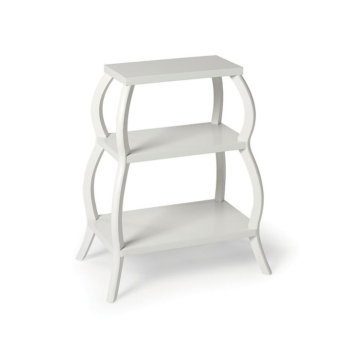 This is SO cute!  Curvee Shelf Table - White | Serena & Lily