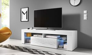 groupon meuble tv hugo ii led 160 cm