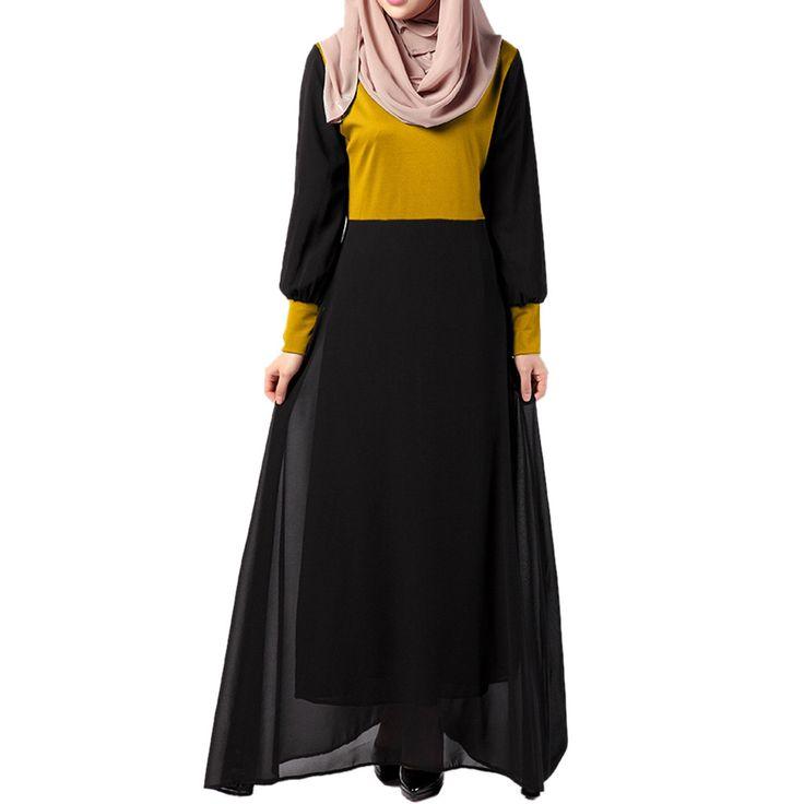 Middle East Muslim Dress National Garments orange M