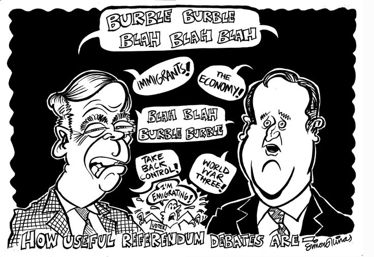 #UK #Referendum #Farage #Cameron #Brexit #EU #Remain #Democracy #Politics #Cartoon
