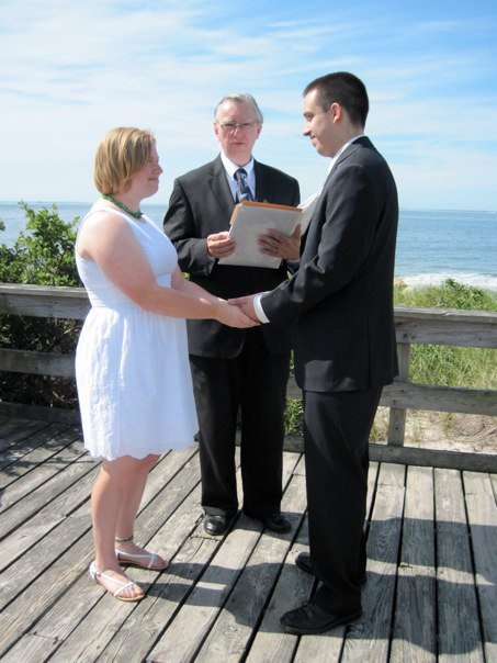harkness state park has a boardwalk and platform that are perfect for an elopement by the small weddingsbeach weddingselopementsconnecticutstate