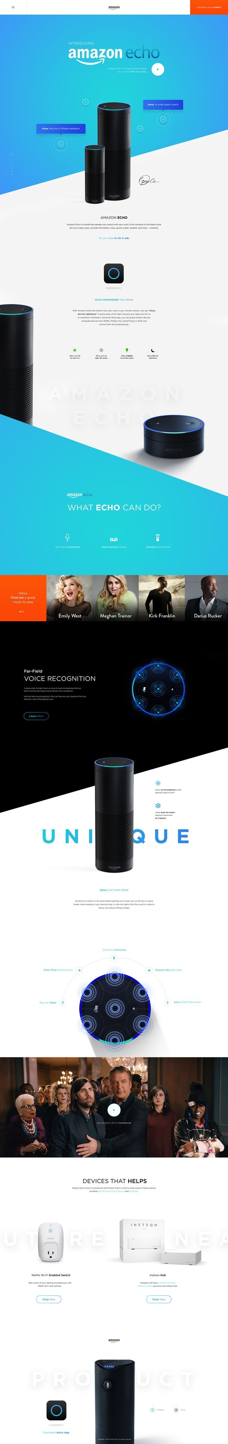 Amazon Echo – SiteUp. If you like UX, design, or design thinking, check out…
