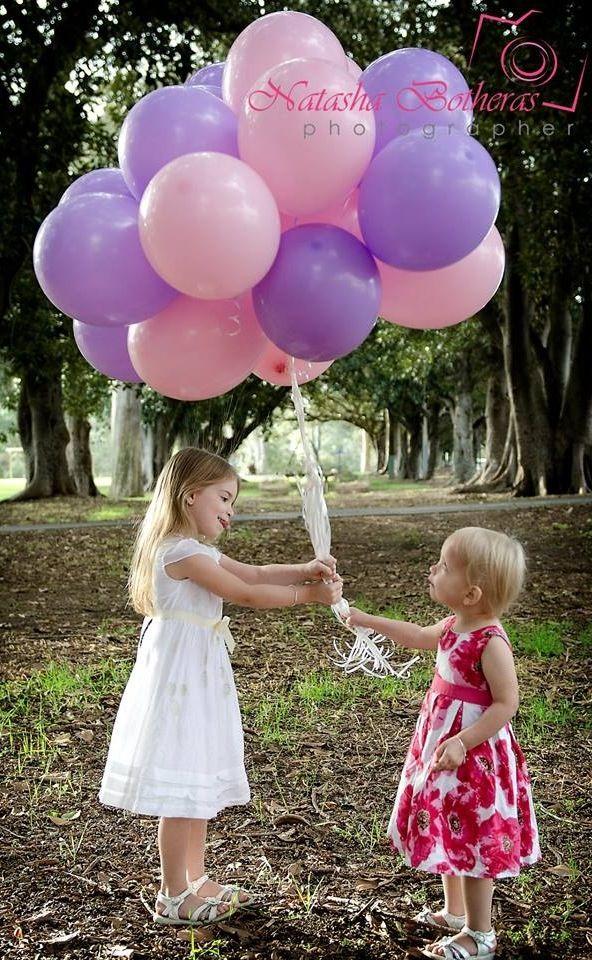 Balloon photo shoot of my girls