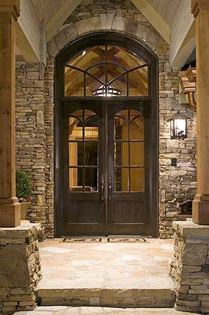 Love the big doors. And stone