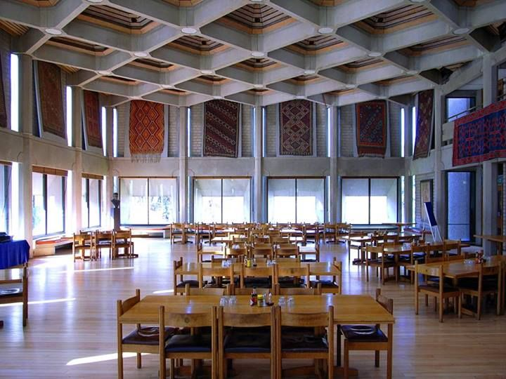 Hilda Besse Building, St Antony's College, Oxford Architects: Howell, Killick, Partridge & Amis. Completed in 1970.