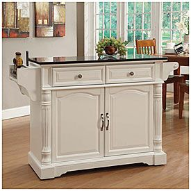 White Granite Top Kitchen Cart at Big Lots.