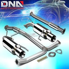 """DUAL 4""""ROLLED TIP STAINLESS STEEL EXHAUST CATBACK SYSTEM FOR ACCORD V6 CG J30A1"""