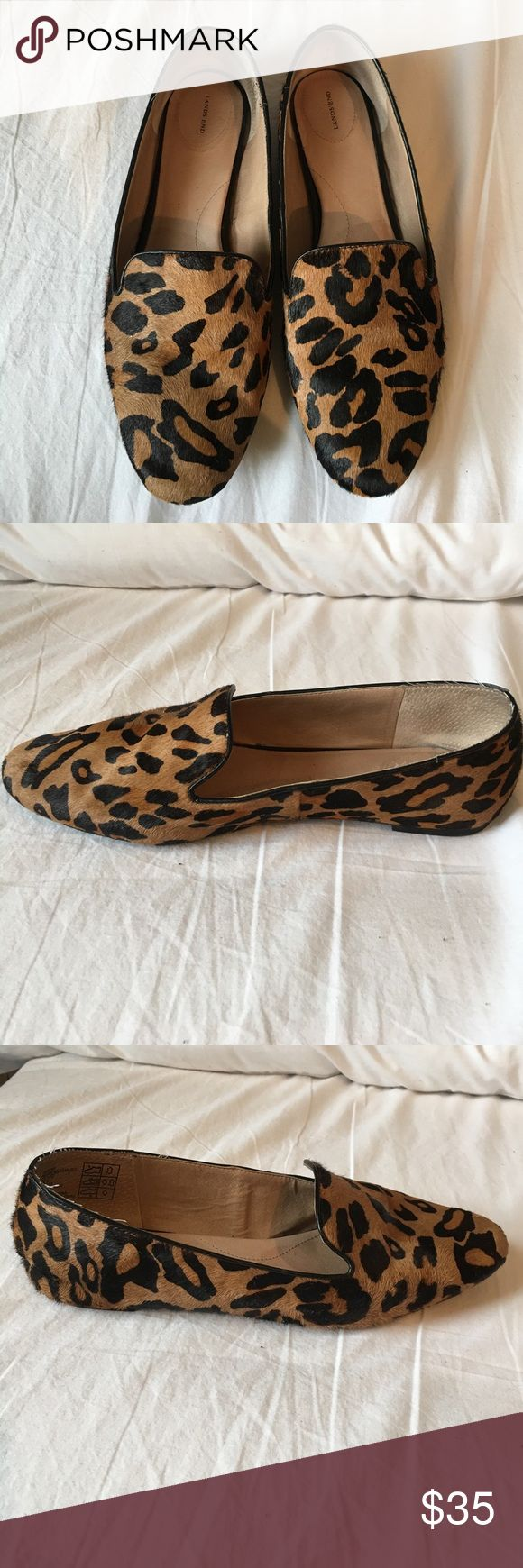 Women's  size 10D cheetah print calf hair loafers Lands end women's size 10D cheetah print calf hair loafers. These are a (re) posh. They are too wide for my feet. land's end Shoes Flats & Loafers