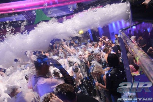 What's better than a foam  party? get down to air and Breathe to examine the madness