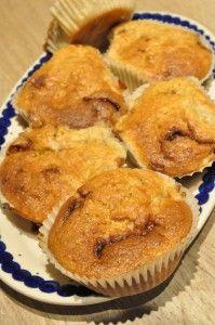 Nemme lækre muffins med banan og chokolade